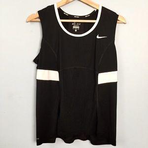 Nike Tennis Top Dri-Fit Black White Size XL
